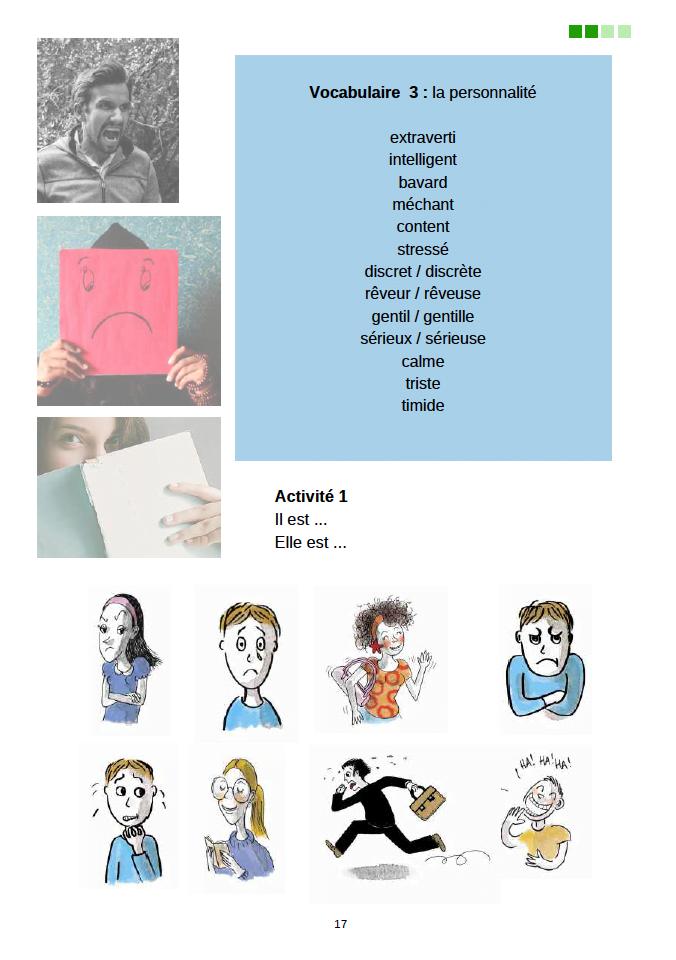 エコールサンパのフランス語教材「出会いのフランス語」の17ページ目