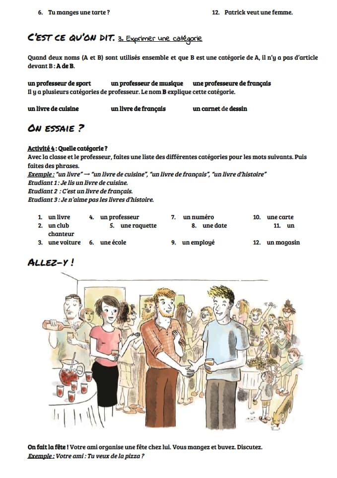 エコールサンパのフランス語教材「もう冠詞・代名詞に迷わない!」の19ページ目