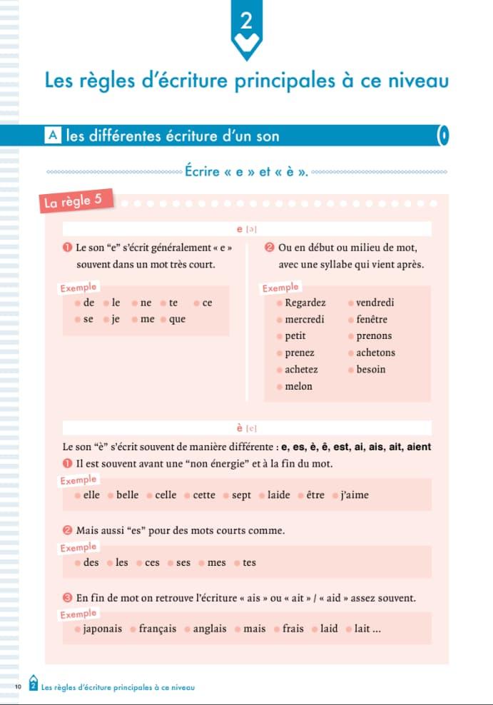 エコールサンパのフランス語教材「ディクテ1」の10ページ目