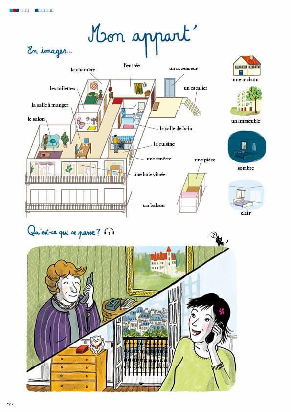 エコールサンパのフランス語教材「C'est sympa livret 3」の12ページ目