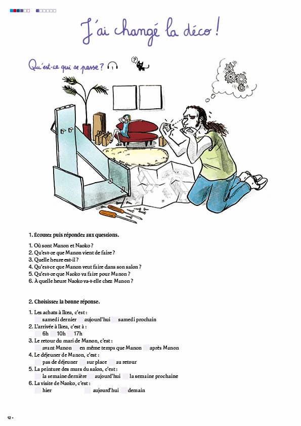 エコールサンパのフランス語教材「C'est sympa livret 4」の12ページ目