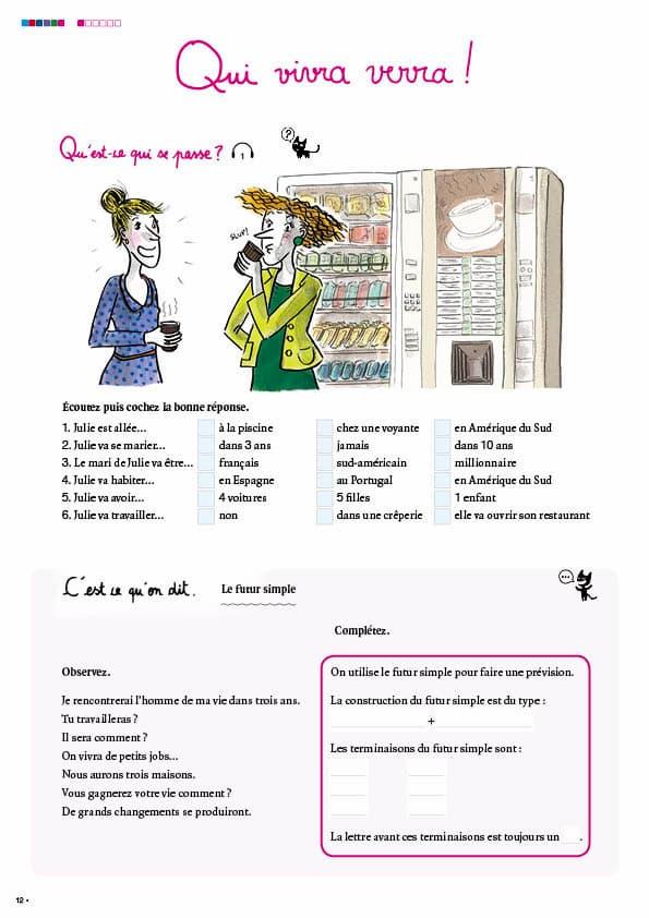 エコールサンパのフランス語教材「C'est sympa livret 6」の12ページ目