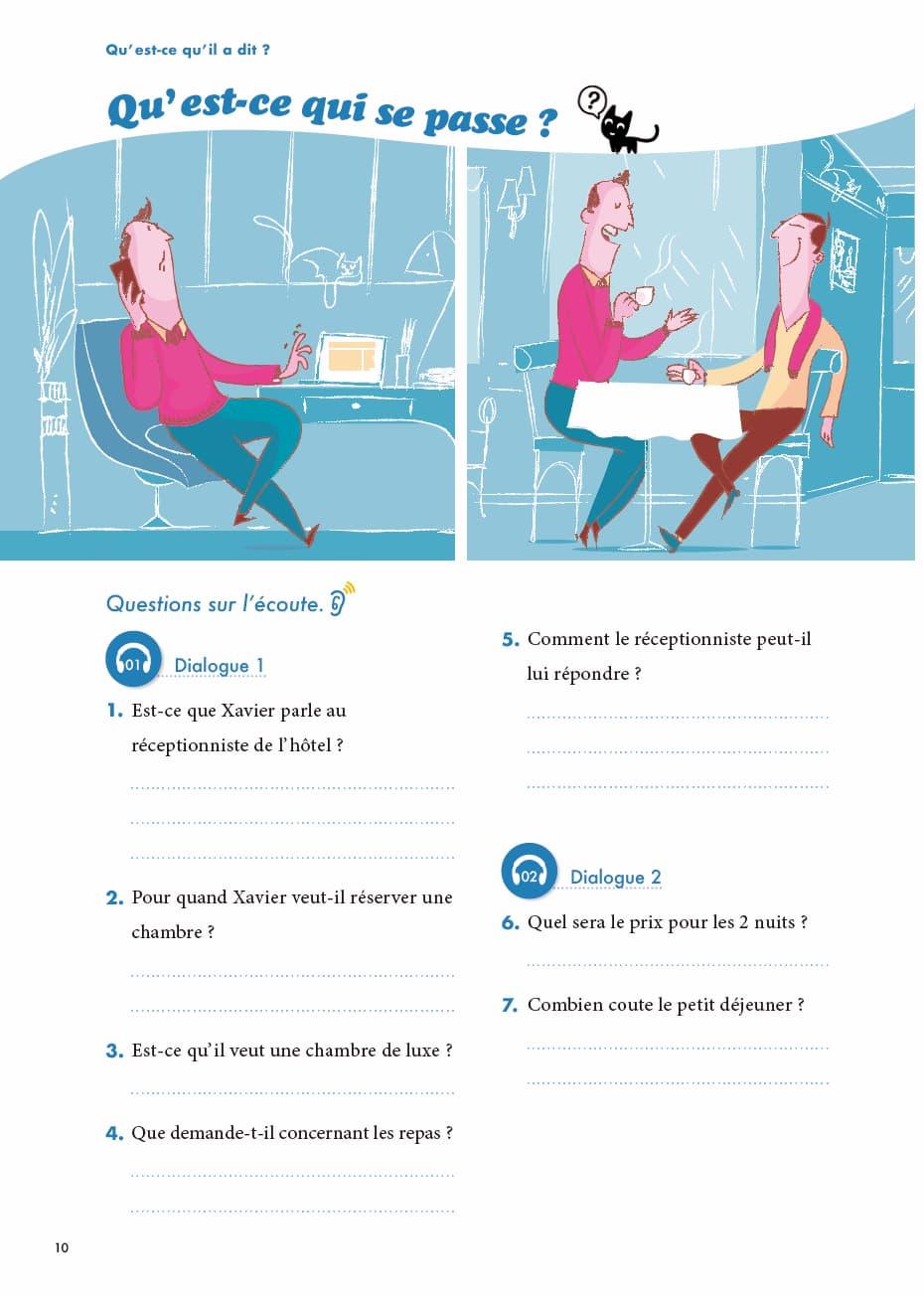 エコールサンパのフランス語教材「C'est sympa livret 8」の10ページ目