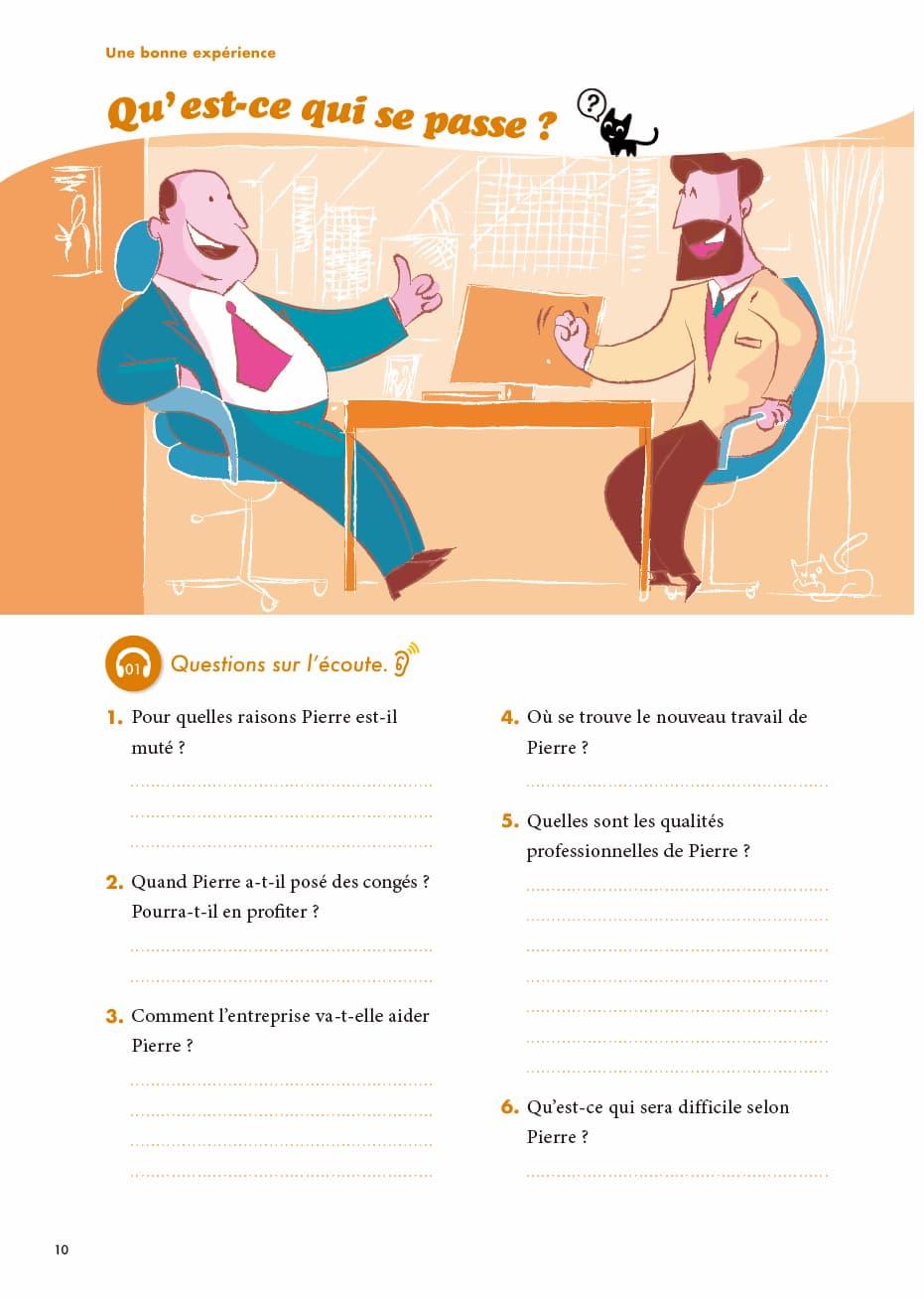 エコールサンパのフランス語教材「C'est sympa livret 9」の10ページ目